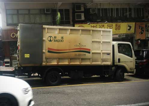 A dirty diesel truck from Baguio, a government contractor