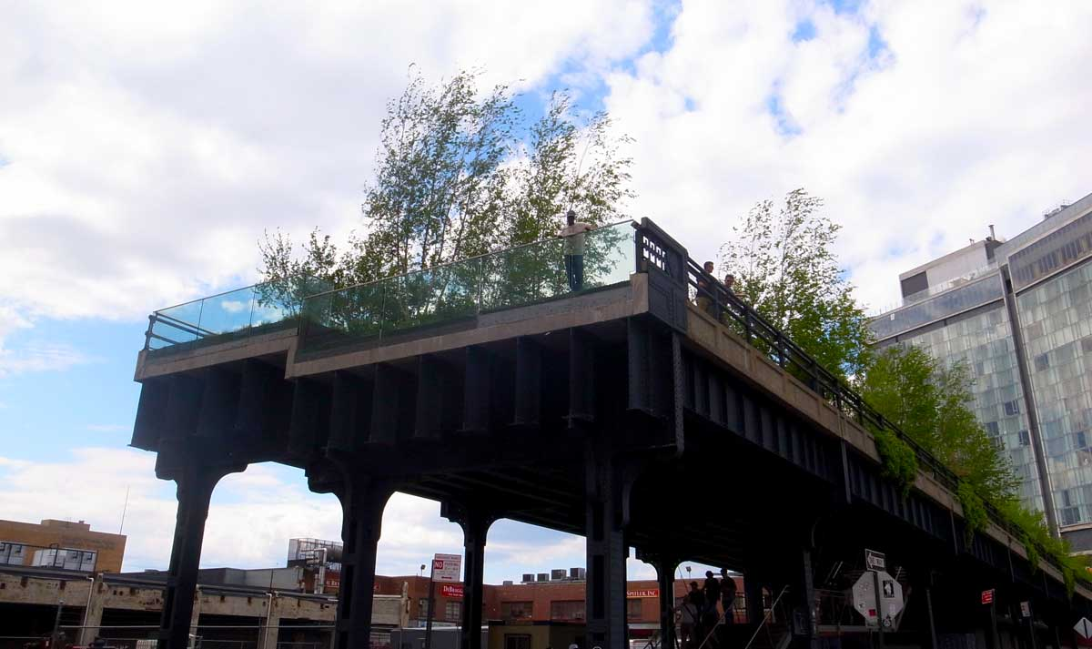 New York's Highline, a greened old elevated railway line