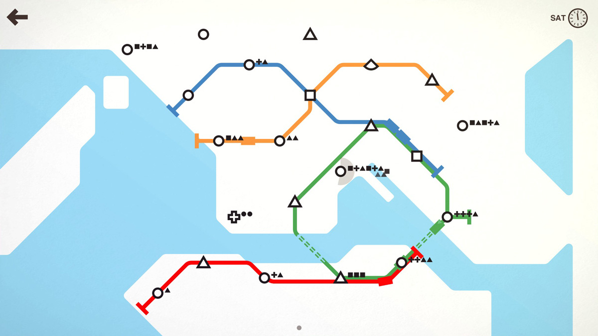 An alternative MTR map of Hong Kong... created in the new game Mini Metro