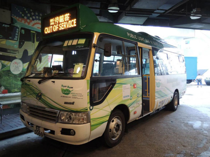 A Dongfeng hybrid bus bought by Teamwise Corporation for a trial in Hong Kong